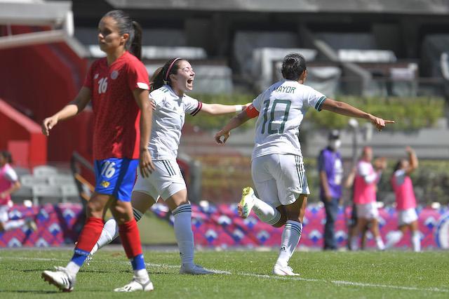 Las mexicanas debutan con goleada ante Costa Rica