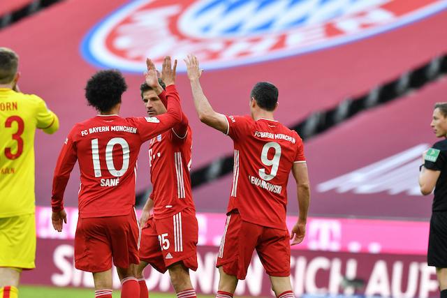 Lewandowski y compañía golearon al Colonia en la Bundesliga