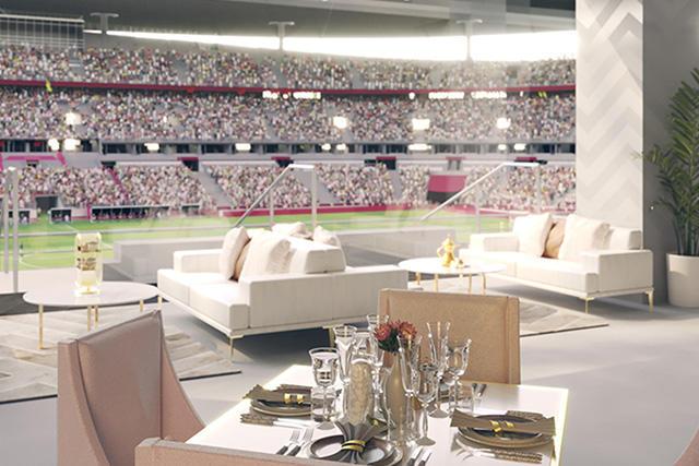 Pearl Lounge del Lusail Stadium