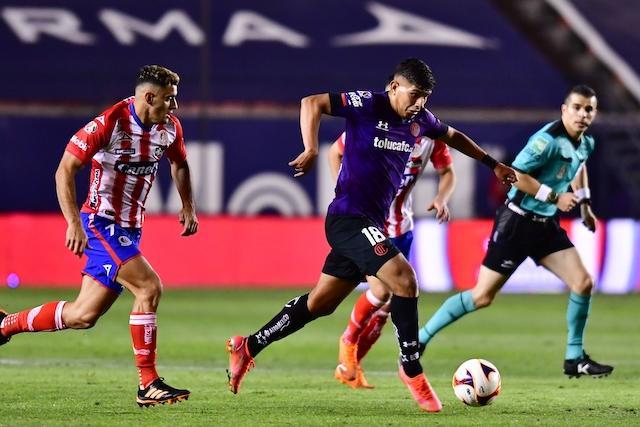 Atlético San Luis y Toluca empataron sin goles