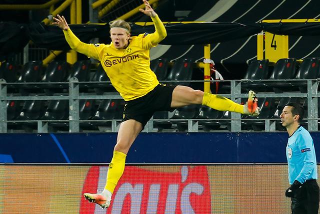 Erling Haaland anotó nuevo doblete en Champions League