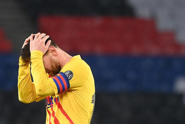 Lionel Messi durante el partido de vuelta ante el PSG