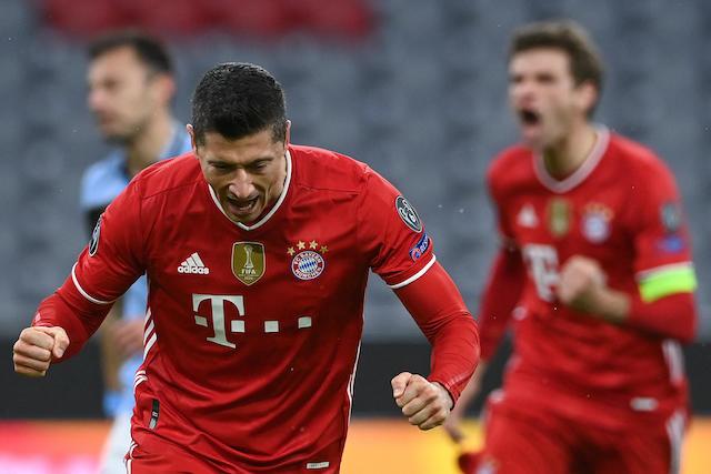 Lewandowski fue el autor del primer gol del Bayern