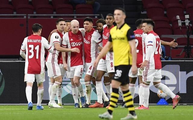 Edson y el Ajax superaron sin problemas los octavos de final de la Europa League