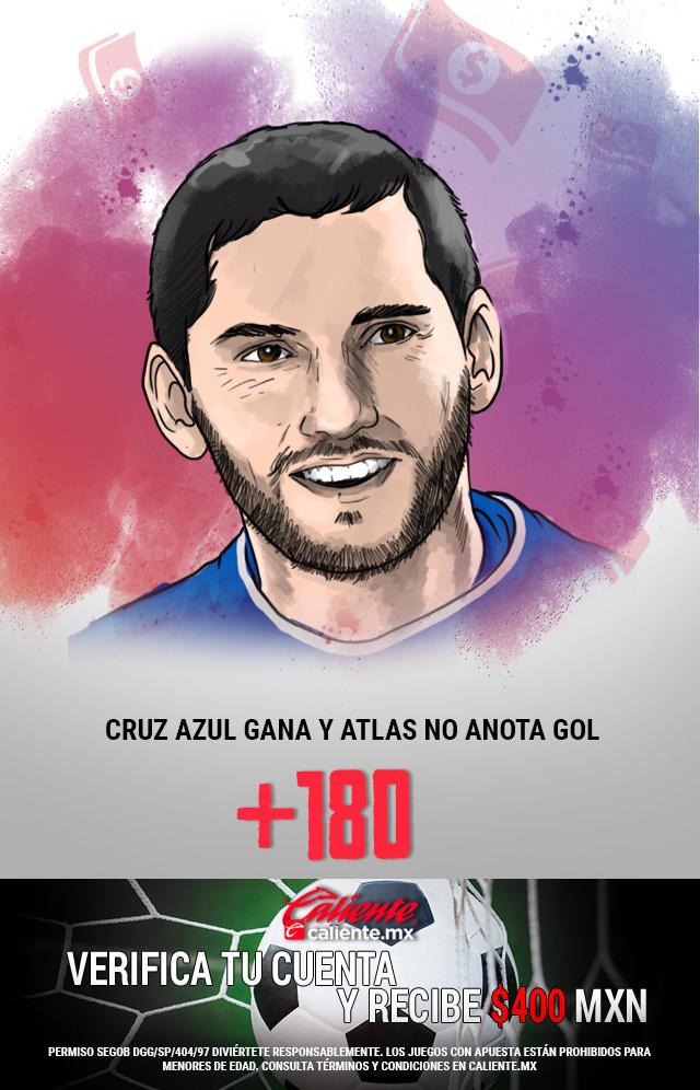 Si crees que Cruz Azul gana y Atlas no anota gol, apuesta en Caliente y llévate mucho dinero.