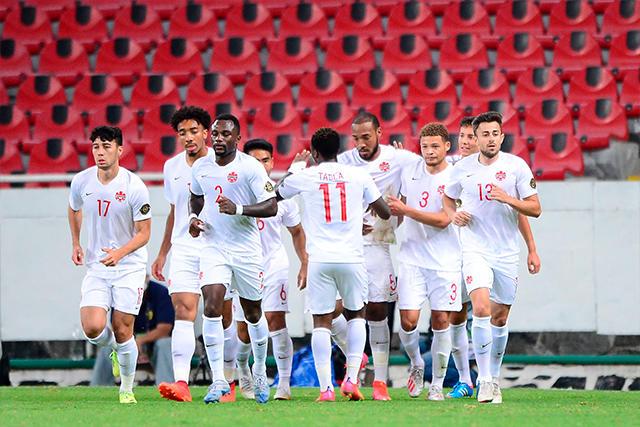 Canadá celebra su gol ante Honduras en el Preolímpico de la Concacaf