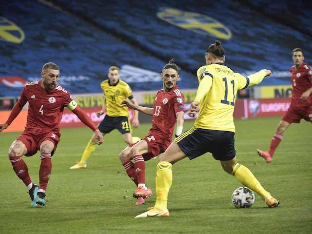 Zlatan en el partido de Suecia frente a Georgia