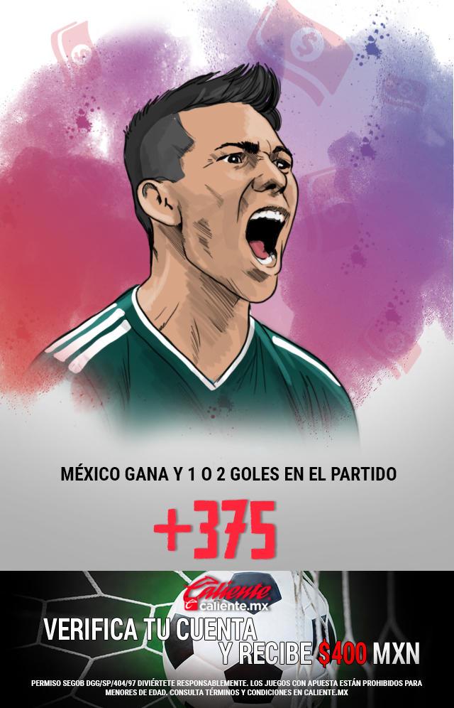 Si crees que la Selección Mexicana gana vs Gales y se anotan 1 o 2 goles en el partido, apuesta en Caliente y llévate mucho dinero.