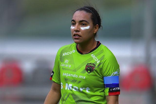 La jugadora de Juárez durante un partido