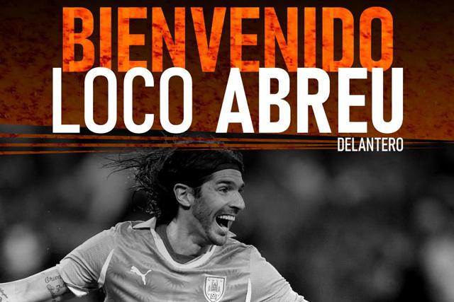 Sebastián Abreu firmó con el Sud América, el club 31 en su carrera