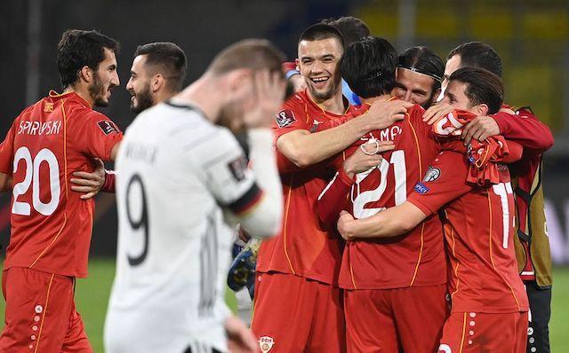 Macedonia le ganó 2-1 a Alemania