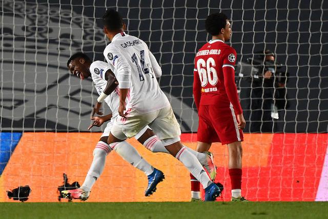 Vinicius celebra uno de sus dos goles