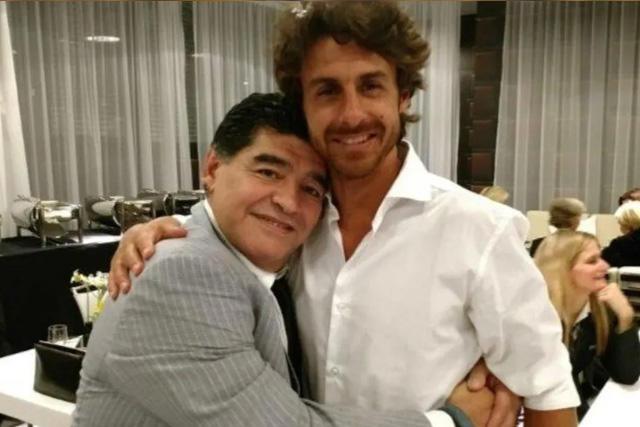 Pablo Aimar y Diego Maradona