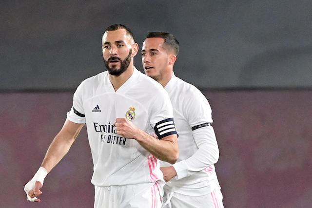 Benzema celebra el gol