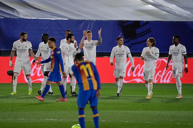 Madrid festejando sus goles