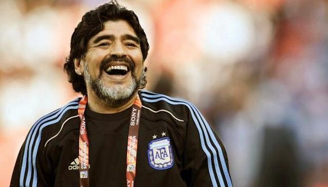 Maradona durante el Mundial del 2010