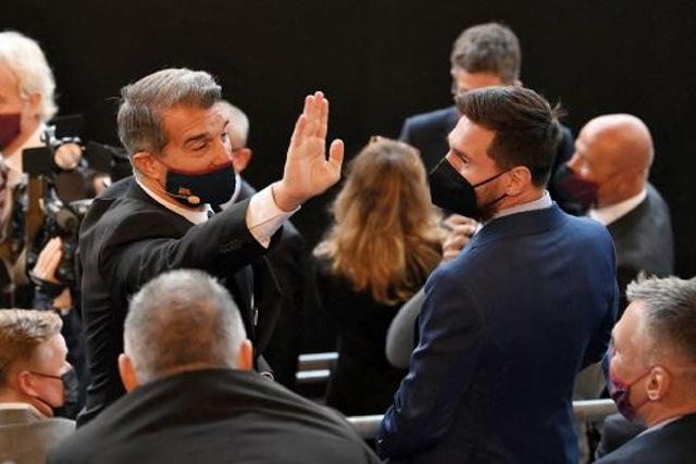 Joan Laporta asegura que la negoación para la renovación de Messi va avanzando