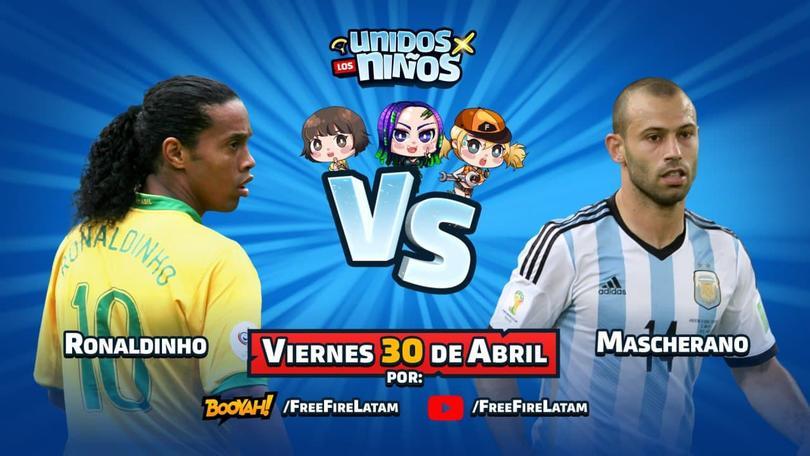 Ronaldinho y Mascherano se enfrentarán en el evento Unidos por los niños