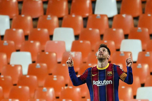 Messi celebra sus dos goles