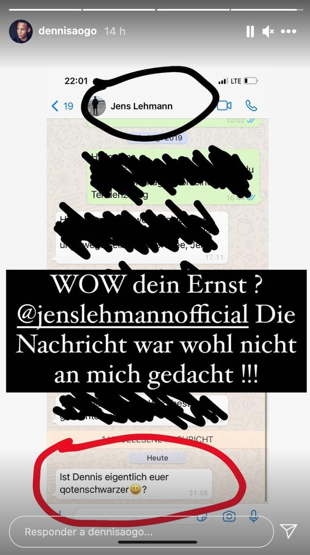 Mensaje de Lehmann