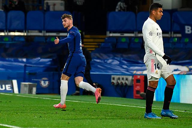 Werner adelanta al Chelsea y complica al Real Madrid