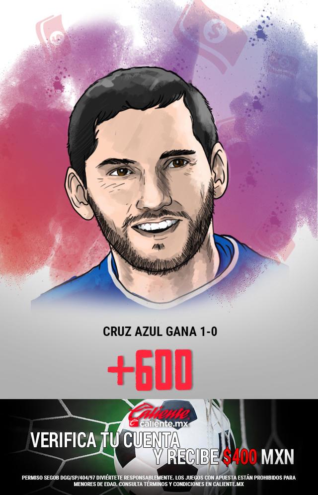 Si crees que Cruz Azul gana 1-0 vs Toluca en el partido de vuelta, apuesta en Caliente y llévate mucho dinero.