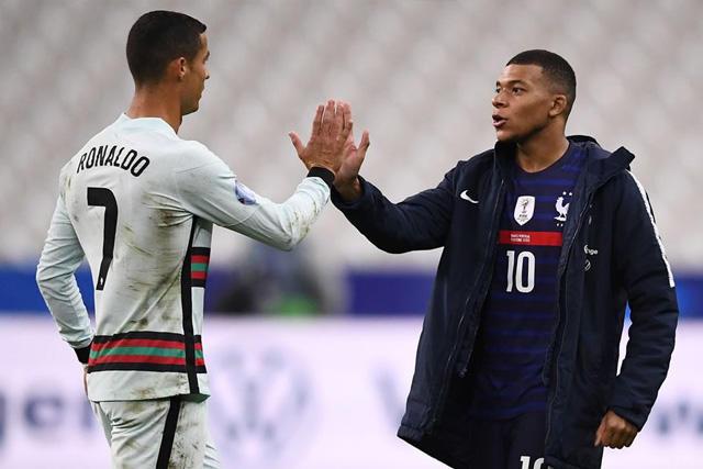 Cristiano Ronaldo y Kylian Mbappé