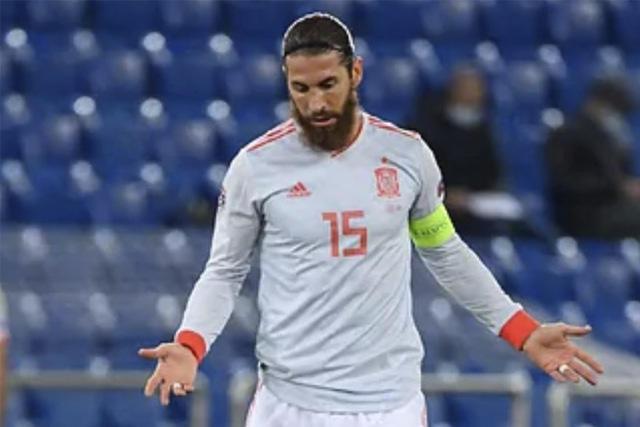 Sergio Ramos quedó fuera de la Euro 2020