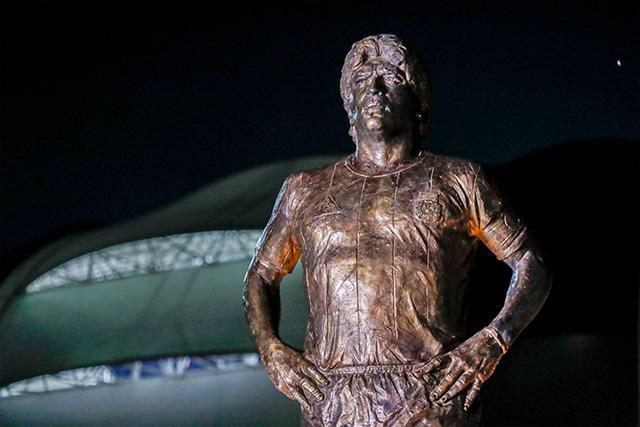 Estatua en honor a Diego Maradona