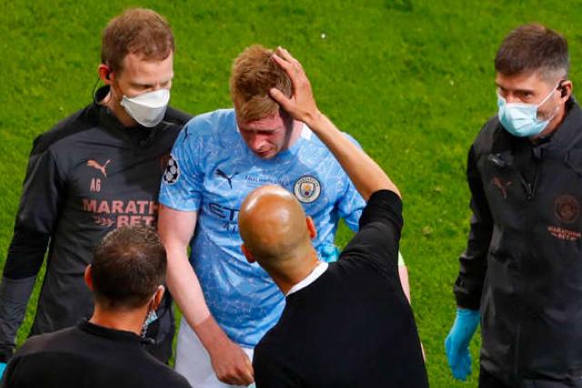 Kevin De Bryune jugará la EURO después de haber sido operado por el golpe que recibió en la final de la Champions
