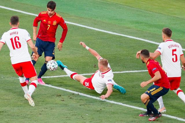 Morata fue uno de los jugadores que más falló en el partido contra Polonia