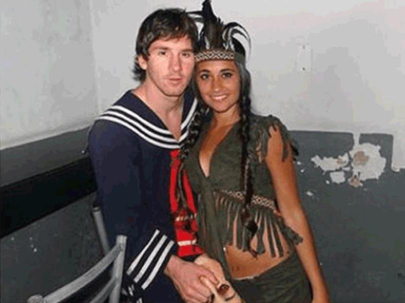 Messi se animó a disfrazarse para una fiesta familiar como Kiko