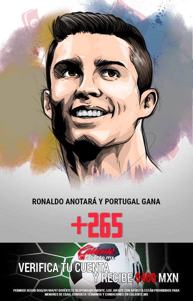Si crees que Cristiano Ronaldo anotará y Portugal gana vs Bélgica, apuesta en Caliente y llévate mucho dinero.