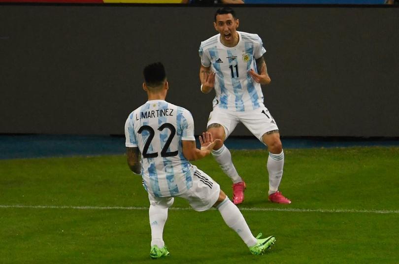 Un gol de Di María acabó con 28 años sin título para Argentina