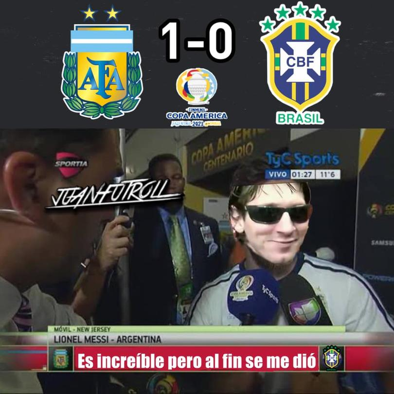 Argentina ganó la Copa América y los memes no se hicieron esperar