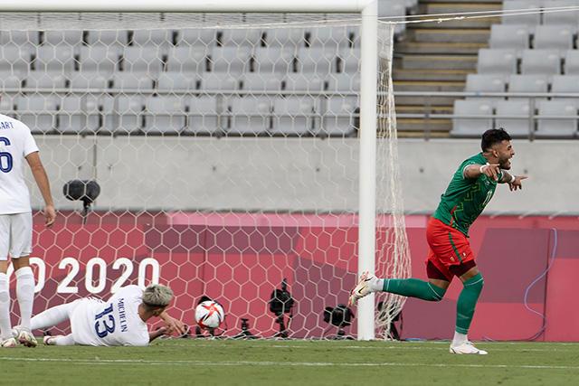 Alexis Vega celebra su gol ante Francia