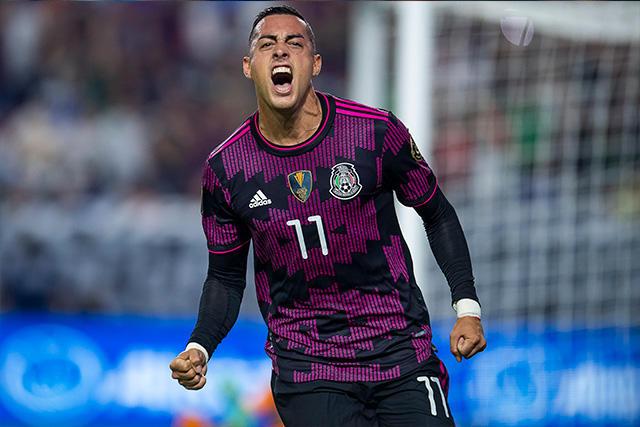 Funes Mori celebra su gol ante Honduras