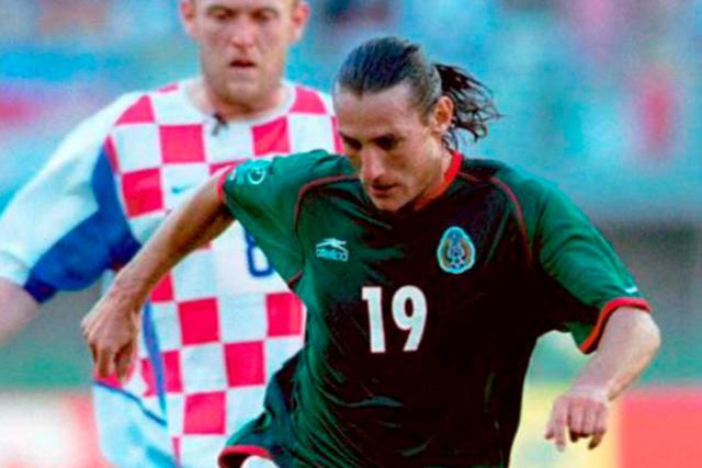Gabriel Caballero en el Mundial 2002 ante Croacia