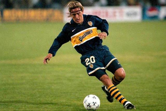 Luis Hernández en su etapa con Boca Juniors