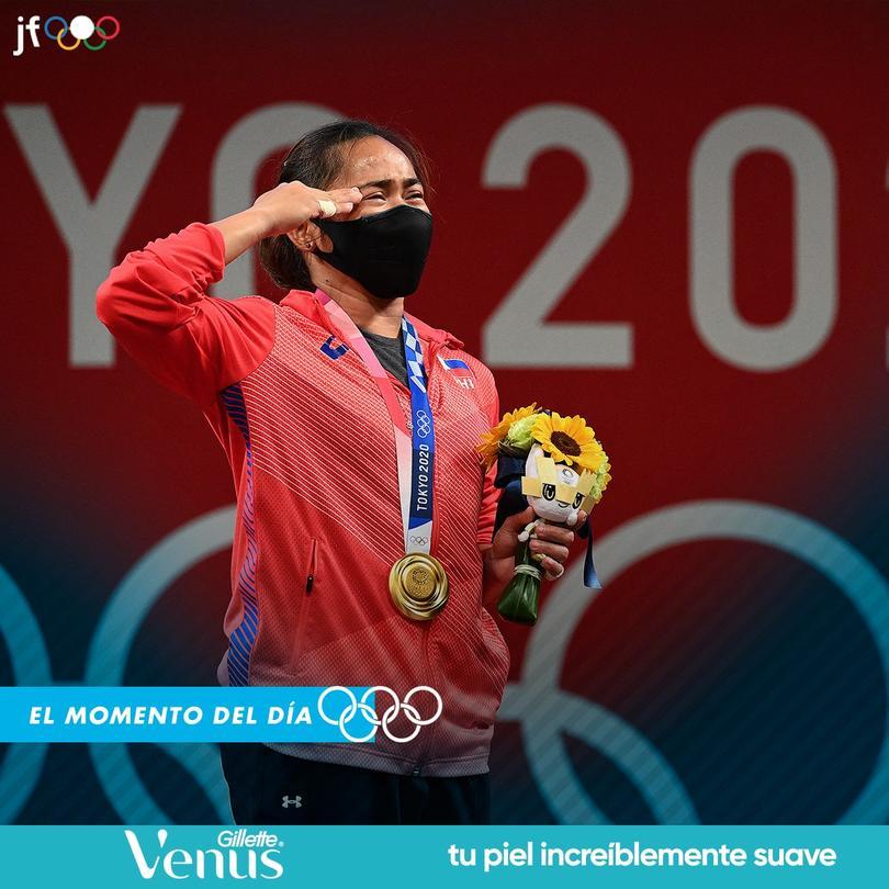 Hidilyn Diaz consiguió el primer oro olímpico en la historia de Filipinas