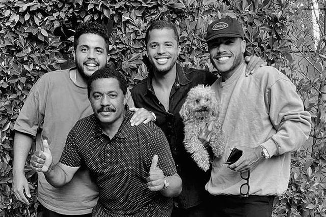 De izquierda a derecha: Eder, Zizinho, Giovani y Jonathan dos Santos
