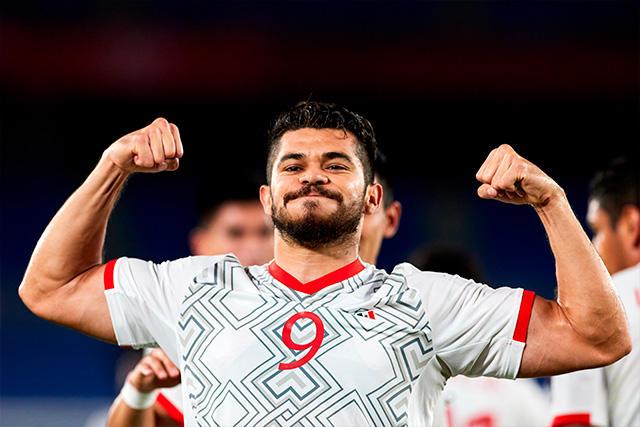 Henry Martín celebra su gol ante Corea del Sur