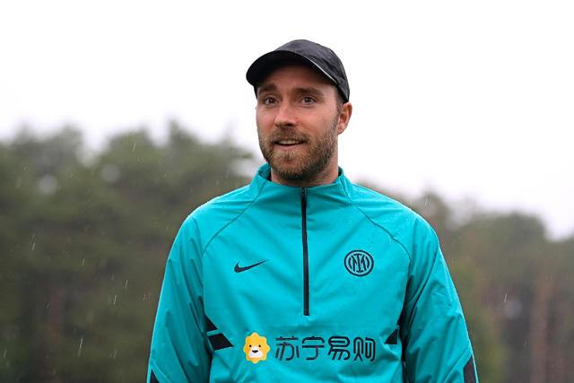 Christian Eriksen en su visita al centro de entrenamiento del Inter