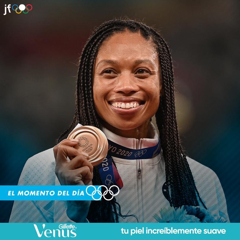 Allyson Felix se convierte en la primera mujer atleta en ganar 10 medallas olímpicas