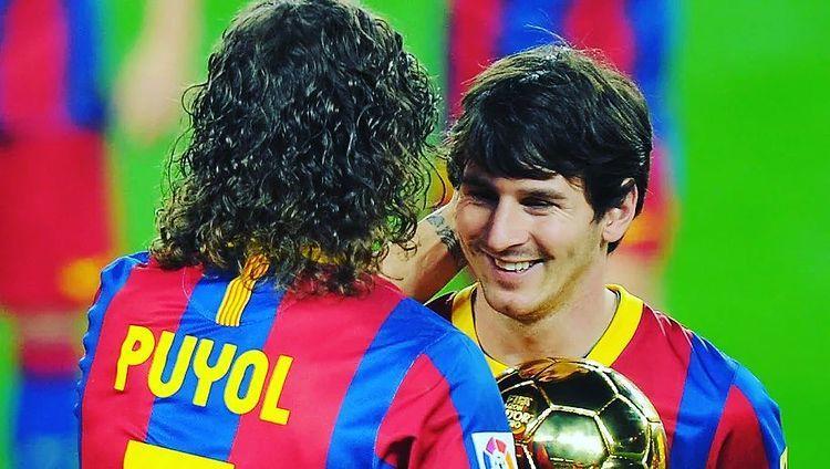 Puyol y Messi