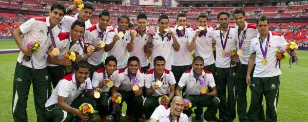 México celebrando el oro olímpico