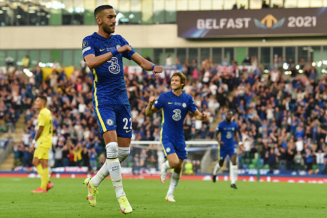 Chelsea anotó el primer gol de la Supercopa 2021.