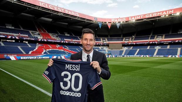 Leo Messi fue presentado ayer con el PSG