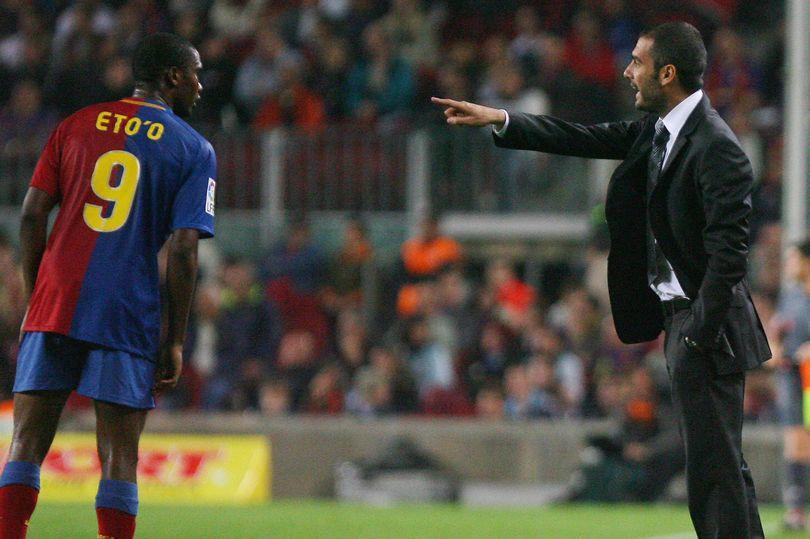 Eto´o no tuvo una buena relación con Guardiola