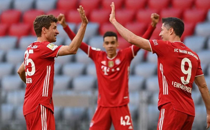 Bayern celebrando la victoria